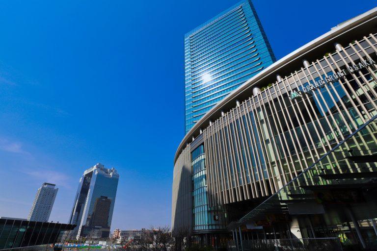 梅田駅前の風景