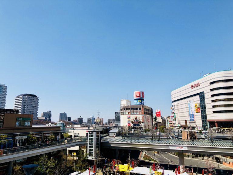 川口駅周辺の街並み
