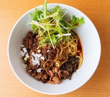 汁なし担担麺ピリリ銀座店、挽肉を使わないヘルシーな「ソイミート担担麺白胡麻」先行発売