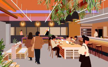 ベーカリー&カフェ、セレクトストア、ギャラリーが集合!大阪市北区に複合施設「KNOT MARKET PLACE」がオープン