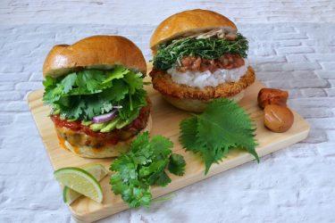 夏の暑さを吹き飛ばすさっぱりバーガーが登場!「いしがまや GOKU BURGER」が、パクチーと紫蘇を使ったバーガーを限定発売