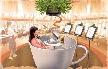 全身でコーヒーの香りを楽しめる「ネスカフェ ゴールドブレンド 香り体感カフェ」が、原宿にオープン!